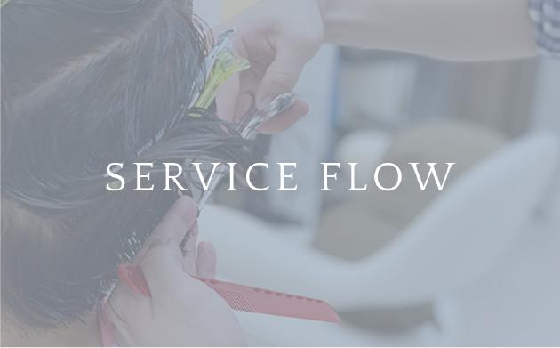 ソシエヘアーのサービスの流れページのイメージ画像